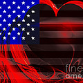 I Love America Print by Wingsdomain Art and Photography