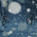 Ice Blue Snowy Landscape Print by Anahi DeCanio