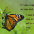 If I Were a Butterfly Poster by Bill Cannon