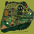 Iguana - Color Print by Karl Addison