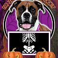 I'm Just a Lil' Spooky Boxer Print by Renae Laughner