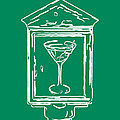In Case Of Emergency - Drink Martini - Green Print by Wingsdomain Art and Photography