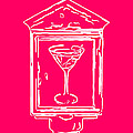 In Case Of Emergency - Drink Martini - Pink Print by Wingsdomain Art and Photography
