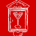 In Case Of Emergency - Drink Martini - Red Print by Wingsdomain Art and Photography