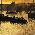 In The Port Poster by Charles Cottet