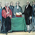Inauguration Of George Washington, 1789 Print by Photo Researchers