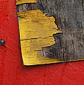 Industrial Red Wall Abstract Poster by AdSpice Studios