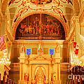 Inside St louis Cathedral Jackson Square French Quarter New Orleans Accented Edges Digital Art Poster by Shawn O'Brien