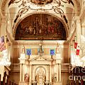 Inside St louis Cathedral Jackson Square French Quarter New Orleans Diffuse Glow Digital Art Poster by Shawn O'Brien