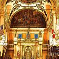 Inside St louis Cathedral Jackson Square French Quarter New Orleans Digital Art Poster by Shawn OBrien