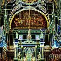Inside St louis Cathedral Jackson Square French Quarter New Orleans Glowing Edges Digital Art Poster by Shawn O'Brien