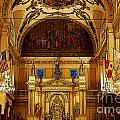 Inside St louis Cathedral Jackson Square French Quarter New Orleans Poster Edges Digital Art Poster by Shawn O'Brien