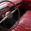 Interior of a classic American car Print by Sami Sarkis