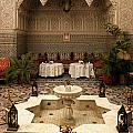 INTERIOR OF A TRADITIONAL RIAD IN FEZ Poster by ArtPhoto-Ralph A  Ledergerber-Photography