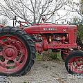 International Harvester McCormick Farmall Farm Tractor . 7D10320 Print by Wingsdomain Art and Photography