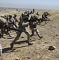 Iraqi Army Soldiers Move To Positions Print by Stocktrek Images