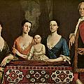 Issac Royall and His Family Poster by Robert Feke