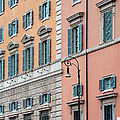 Italian Facade Print by Mark Greenberg