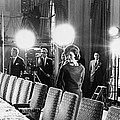 Jacqueline Kennedy And Television Crew Poster by Everett