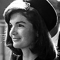 Jacqueline Kennedy, Joins The President Print by Everett