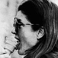 Jacqueline Kennedy Onassis Licks An Ice Print by Everett