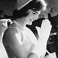 Jacqueline Kennedy Visiting A Childrens Print by Everett