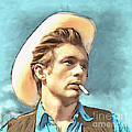 James Dean II Print by Arne Hansen