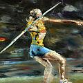 Javelin Thrower Poster by Paul Mitchell