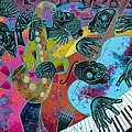 Jazz On Ogontz Ave. Print by Larry Poncho Brown