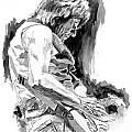 Jeff Beck in Concert Print by David Lloyd Glover