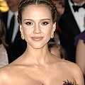 Jessica Alba Wearing Cartier Earrings Print by Everett