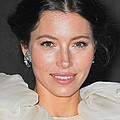 Jessica Biel  Wearing Fred Leighton Poster by Everett