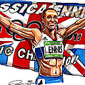 Jessica Ennis Poster by Dave Olsen