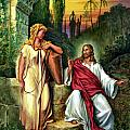 Jesus and the Woman at the Well Print by John Lautermilch
