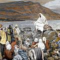 Jesus Preaching Poster by Tissot