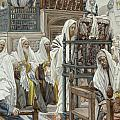 Jesus Unrolls the Book in the Synagogue Print by Tissot