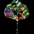 Jewel Tone Leaf Poster by Ann Powell