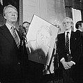 Jimmy Carter With Andy Warhol by Everett
