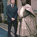 Jimmy Carter With Nigerian Ruler Print by Everett