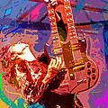 Jimmy Page Stairway To Heaven Poster by David Lloyd Glover