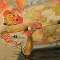 Jimmy Rollins Print by KEITH HANCOCK