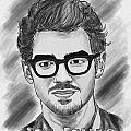 Joe Jonas Drawing Print by Kenal Louis