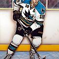 Joe Thornton San Jose Sharks Print by Dave Olsen