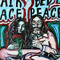 John and Yoko Print by Hannah Curran