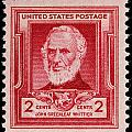 John Greenleaf Whittier postage stamp Poster by James Hill