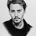 Johnny Depp Print by Andrew Read