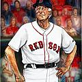 Johnny Pesky  Print by Dave Olsen