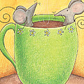 Join Me in a Cup of Coffee Poster by Christy Beckwith