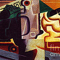 Juan Gris Glas und Karaffe Poster by PG REPRODUCTIONS