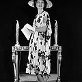 Kay Francis Modeling Floral-print Crepe Poster by Everett